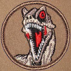 Cool boy scout patches Dinosaur Raptor Head Patrol Patch (#341) Patchtown.com