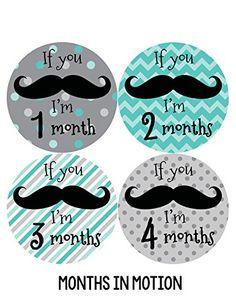 Months in Motion 217 Monthly Baby Stickers - Baby Boy - Months 1-12 - Milestone Sticker Mustache Months In Motion http://www.amazon.com/dp/B00JOVK3E4/ref=cm_sw_r_pi_dp_6Nkrwb0DPEZBE