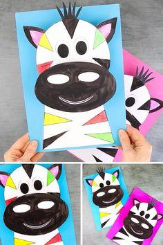 Paper Animal Crafts, Animal Crafts For Kids, Paper Animals, Fall Crafts For Kids, Paper Crafts For Kids, Summer Crafts, Toddler Crafts, Preschool Crafts, Fun Crafts