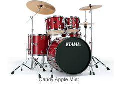 "TAMA IMPERIALSTAR 20"" kick W/ hardware & Cymbals (IP50C CAM)"