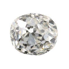 Diamond loose old mine cut .40 carat antique vintage   J Si1   early cushion brilliant cut diamond   circa 1800's by DavidJThomasJewelry on Etsy