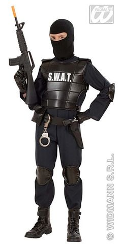 You can keep the peace and catch the bad guys in this cool Swat Costume. This elite police force needs more members are you up for the challenge.