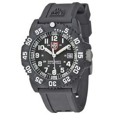 Luminox Women's EVO Navy Seal 7051 Black Polyurethane Swiss Quartz Watch with Black Dial