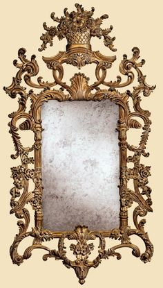 "Marge Carson - Vouvray Mirror Item #VV17 Dimensions: 36""w x 1.75""d x 65.75""h"