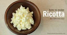 how to make ricotta cheese from the whey that is leftover after cheesemaking