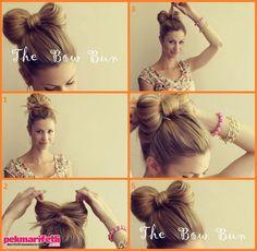 Fiyonk saç modeli yapımı resimli anlatım - Pek Marifetli!