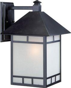 "Nuvo Lighting 60/5703 Drexel ES 10"" Width 1 Light Energy Star Outdoor Lantern Wa Stone Black Outdoor Lighting Wall Sconces Outdoor Wall Sconces"