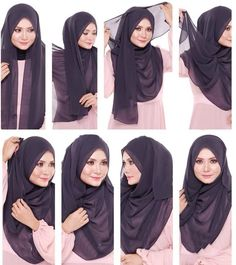 Find our latest new hijab styles 2020 step by step. Learn how to take hijab without a pin. You will be helped out in learning by making a tutorial series of taking hijab. See chest covering hijab style for girls and much more. Tutorial Hijab Pashmina, Square Hijab Tutorial, Simple Hijab Tutorial, Hijab Simple, Hijab Style Tutorial, Turkish Hijab Tutorial, Hijab Styles, Scarf Styles, Stylish Hijab