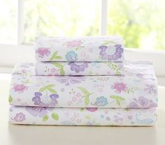 Garden Party Sheeting #PotteryBarnKids