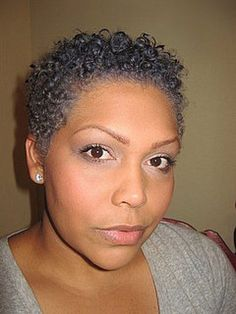 Natural Gray Hair Styles   gray natural hair styles   Not Grey About My Gray Val S Saucey New ...