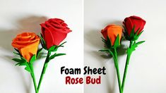 Simple Paper Flower, Paper Flower Vase, Paper Dahlia, How To Make Foam, How To Make Water, 1954 Birthday, Foam Sheet Crafts, Plastic Bottle Flowers, Origami Rose