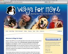 Wags for Hope Website (HTML, CSS, WordPress) - www.wagsforhope.org