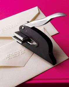 A great alternative to address labels or stamps – and its only $24! Love!  @  Lovely Wedding Day