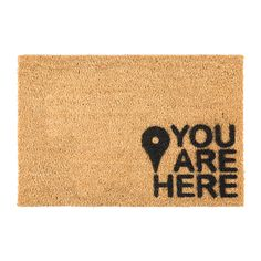 Artsy Doormats - You Are Here Fußmatte