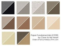 Paper Fundamentals Basics Collection www.fancymelissa.com #ctmh #embossed #scrapbook #neutrals $19.95