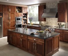 Kitchen Remodels - transitional - Kitchen - Orange County - Towne & Country Design, Inc Finish Kitchen Cabinets, Contemporary Kitchen Cabinets, Quartz Kitchen Countertops, Kitchen Cabinet Styles, Painting Kitchen Cabinets, Kitchen Cabinetry, Orange County, Custom Bathroom Cabinets, Cherry Kitchen
