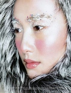 Shu Pei Is An Arctic Beauty in Vogue China - Byrdie.com | Celebrity Beauty Secrets and Makeup Tips