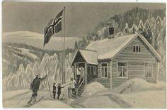 Julekort Otto Moe. Utg E.A Schjørn Tidlig 1900-tall .