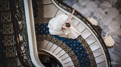 mariage à Biarritz, mariages, descente des escaliers par la mariée