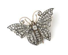 Diamond Butterfly Brooch from Susannah Lovis Ltd, London.