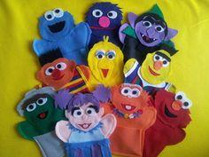 Sesame Street - felt hand puppet set of 10. $44.99, via Etsy.
