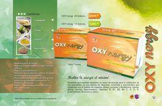 31 Página #Oxynergy Diseñado para quienes necesitan un extra de energía para la realización de sus actividades, es una mezcla de vitaminas, minerales y aminoácidos que colaboran con el trabajo de nuestras células; contiene L-fenilalanina, niacina, glicina, taurina, #betacaroteno, #vitaminas B, B1, B2, B6 C, E, D, K, polinicotinato de cromo y calcio. #Oxynet Vitamins, Minerals, February, Picture Cards, Activities