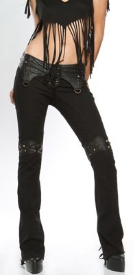 "Lip Service This Corrosion ""Skull Stumper"" Bootcut Jeans"