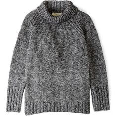 Vanessa Bruno Athé Mohair Wool Knit Tweed Roll Neck Jumper