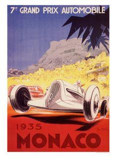 VP120116-09 - Monaco Grand Prix 1935 Racing Poster
