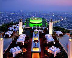 Sirocco & Sky Bar by lebua Hotels and Resorts,  in Bangkok via Flickr