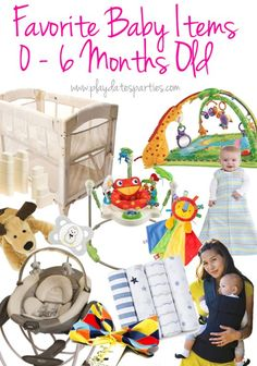 A mom of three identifies her favorite 10 baby items for the first six months. http://playdatesparties.com/2016/03/10-favorite-baby-items-for-0-6-months.html