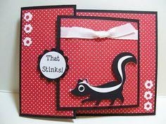 tri shutter card -skunk