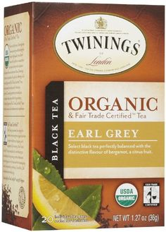 Twinings Earl Grey Organic Tea 20 ct Tea Bags 6 pk >>> More info could be found at the image url. Note: It's an affiliate link to Amazon.