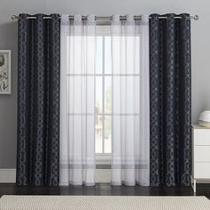 Victoria Classics 4-pack Barcelona Double-Layer Curtain Set