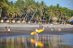 Lugares turisticos de El Salvador Playa El Tunco