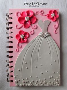 Pink wedding journal (mine's not pink, but it's still pretty fun)