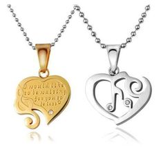 Personalized Breakable Heart Necklaces Set for Couples