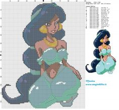 Schema punto croce Jasmine sexy 100x128 15 colori.jpg