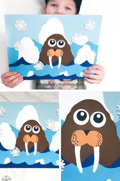 Arctic Animal Craft For Kids This winter paper craft for kids is a fun and easy art project to do in the classroom or at home for kids. It comes with a free printable template so it's easy to recreate. Perfect for elementary aged children. Animal Crafts For Kids, Paper Crafts For Kids, Preschool Crafts, Art For Kids, Craft Kids, Craft Activities, Winter Activities For Kids, Winter Crafts For Kids, Preschool Winter