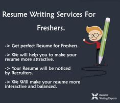 Resume Writing Services For Freshers to stand out from hundreds of competing candidates who are holding a similar degree.