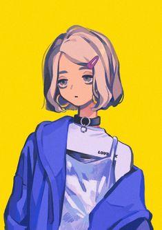 Aesthetic Art, Aesthetic Anime, Girl Cartoon, Cartoon Art, Arte Gcse, Cute Art Styles, Estilo Anime, Anime Kawaii, Anime Art Girl