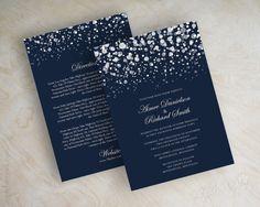navy blue glitter wedding invitations   http://emmalinebride.com/invites/best-invitations-weddings/