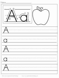 Handwriting Tracing Preschool Worksheets