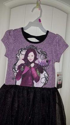Girls DISNEY DESCENDANTS Sweater TULLE Dress Evie XS 4-5  | eBay