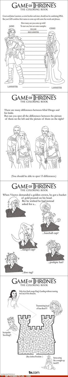 The Game of Thrones coloring book.