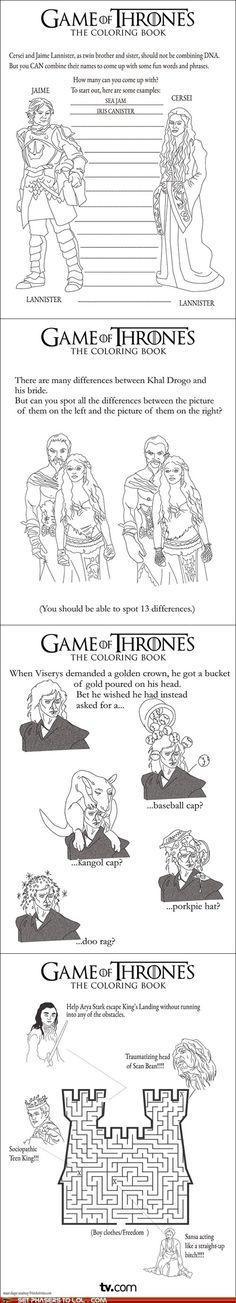 Game of Thrones Activity Book #GOT #AGOT #ASOIAF