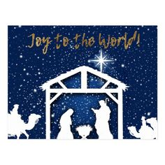 Shop Nativity Traditional Christmas Postcard created by ThePaperSage. Religious Christmas Cards, Diy Christmas Cards, Xmas Cards, Christmas Card Holders, Handmade Christmas, Christmas Crafts, Christmas Yard, Christmas Printables, Christmas Stuff