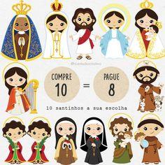 36 Saints clipart bundle baby saints clipart little saints Saint Michael, Saint Christopher, Clip Art, Doodles Bonitos, Sainte Rita, St Rita Of Cascia, Friends Clipart, Clare Of Assisi, St Catherine Of Siena