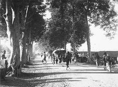 Straatbeeld in Solo 1900.