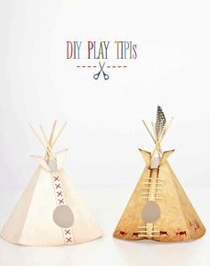 DIY Play Tipis from Kates Creative Space